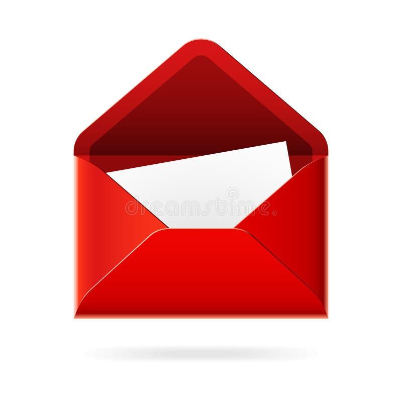 获得的图标邮件ve您 库存例证
