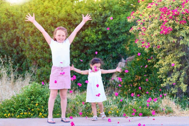 获得的孩子室外的乐趣 免版税图库摄影