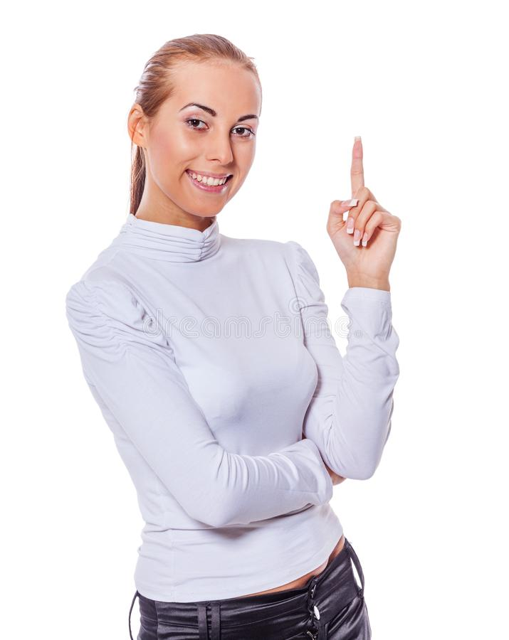 获得的想法妇女 免版税库存图片