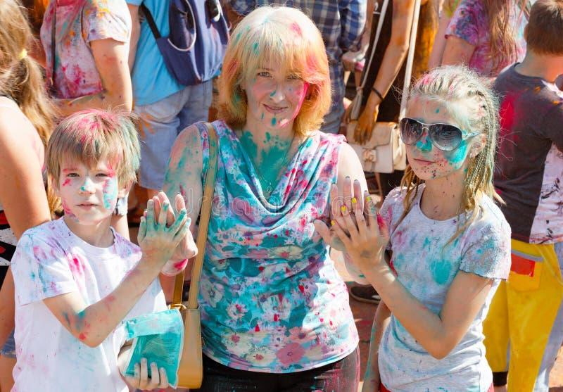获得的母亲和的孩子乐趣 免版税图库摄影