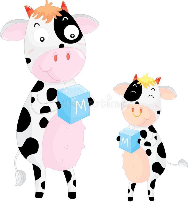 获得的牛奶 向量例证