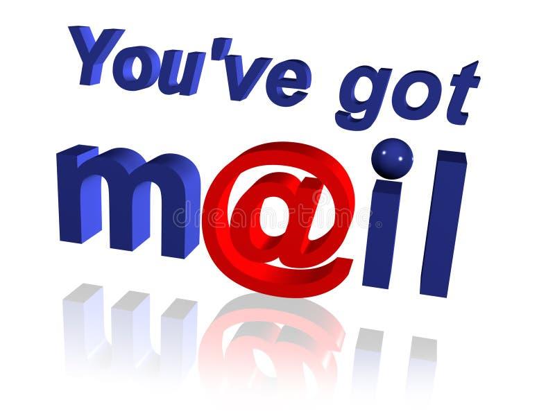 获得的邮件ve您 皇族释放例证