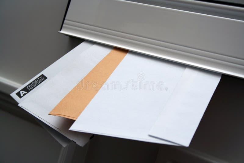 获得的邮件ve您 库存图片