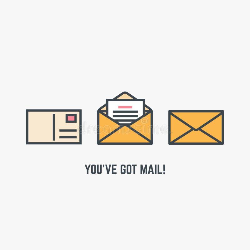 获得的邮件ve您 库存例证