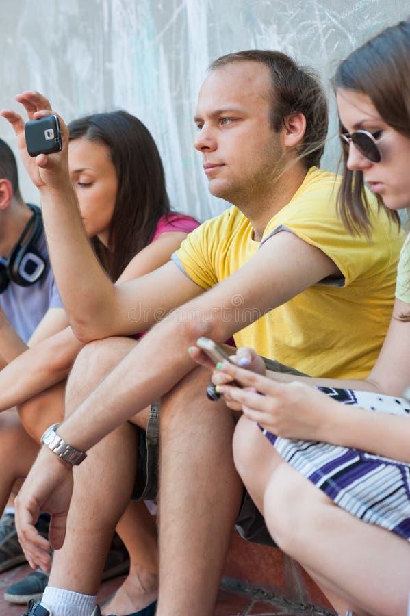 获得的青年人乐趣 免版税库存图片