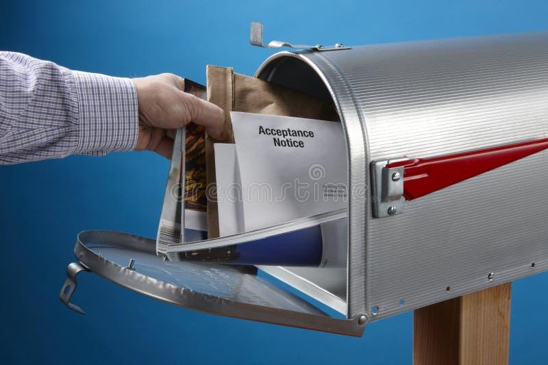 获得邮件 免版税库存图片