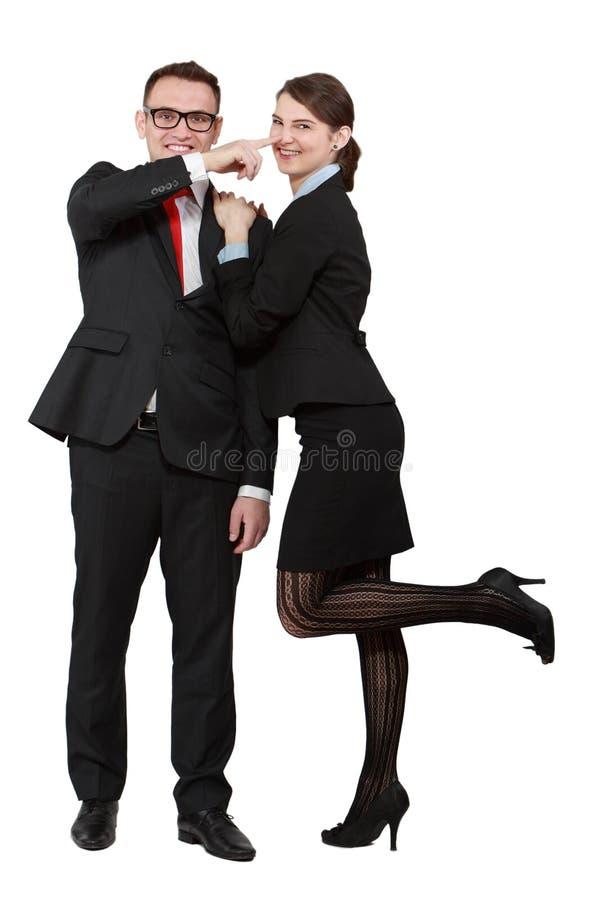 获得年轻的夫妇乐趣 免版税库存图片