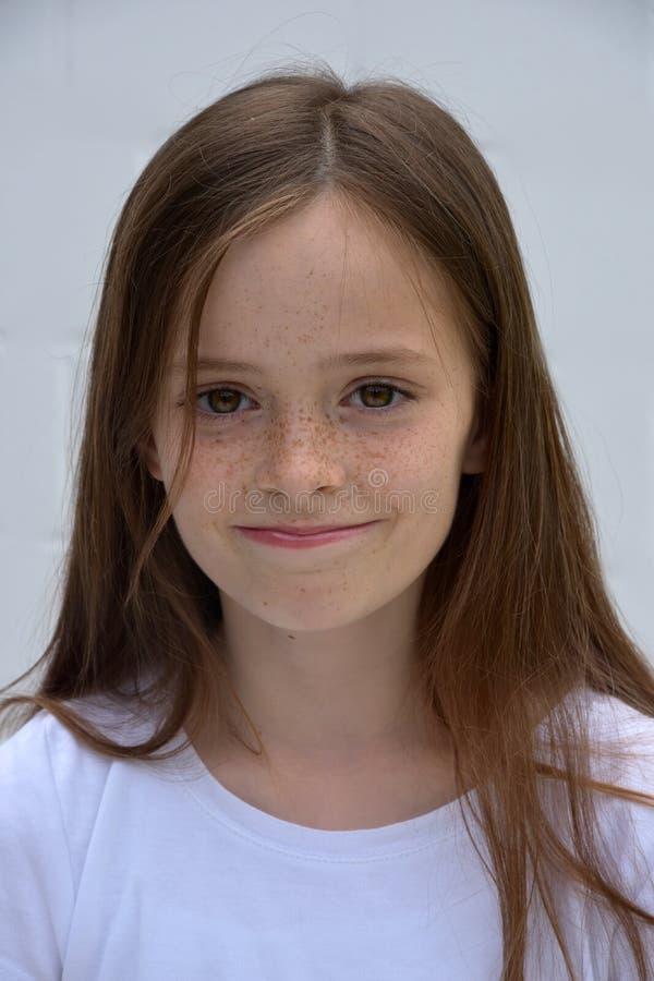 莽撞的少年女孩 免版税图库摄影