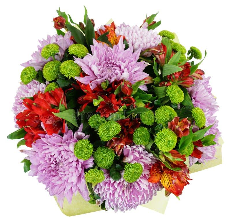菊花和德国锥脚形酒杯花束  库存照片