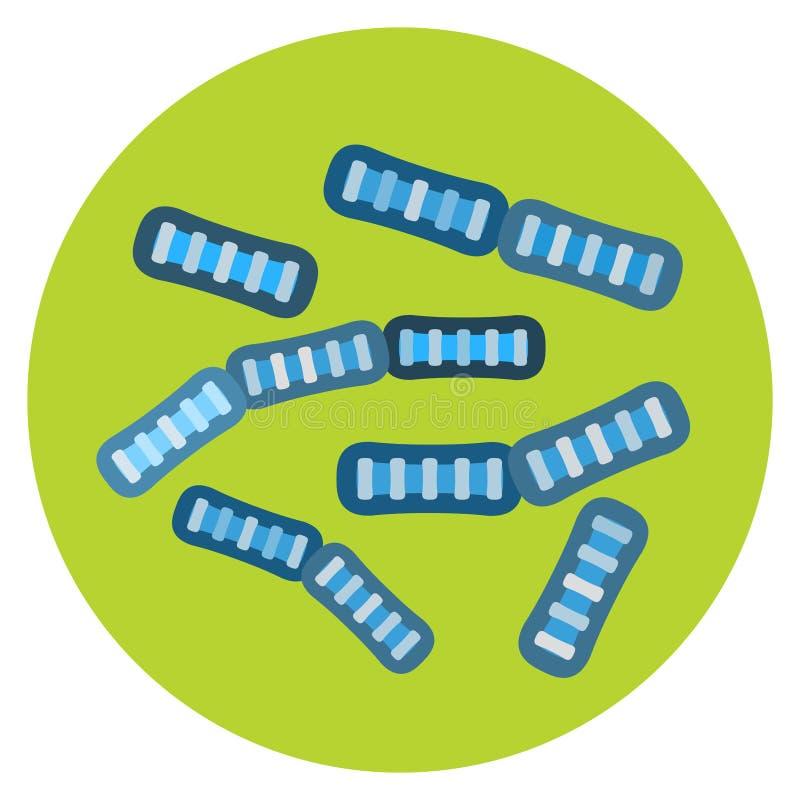 细菌病毒微观被隔绝的微生物象人的微生物学有机体和医学传染生物病症 库存例证