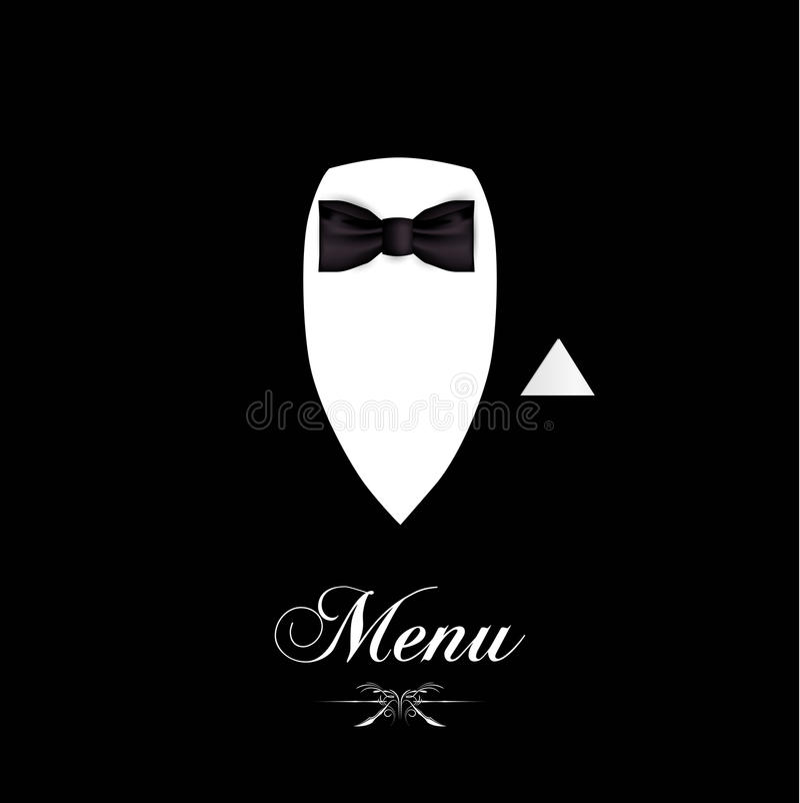 菜单传染媒介 向量例证
