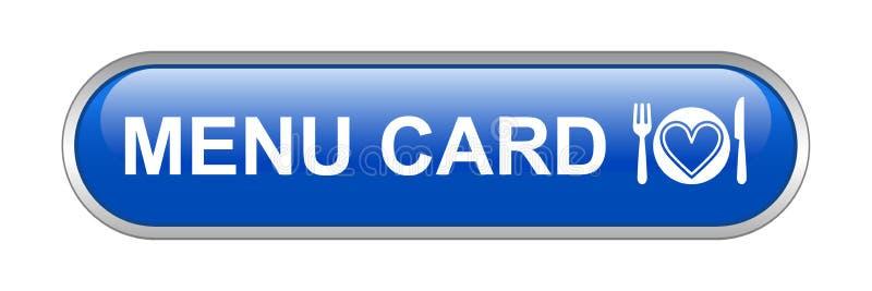 菜单卡片网按钮象 向量例证