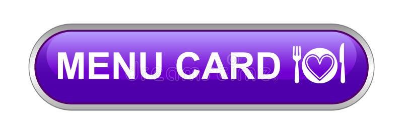 菜单卡片网按钮象 库存例证