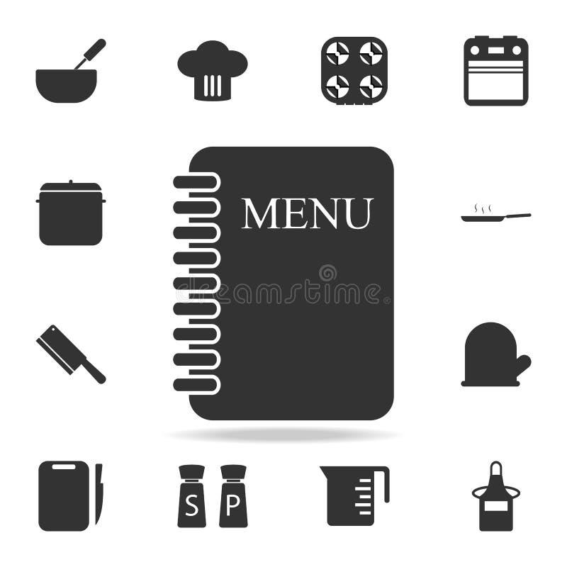 菜单卡片象 套厨师和厨房元素象 优质质量图形设计 标志和标志汇集象网的 皇族释放例证