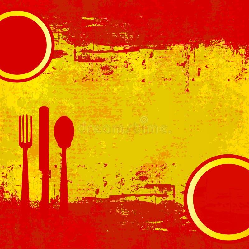 菜单西班牙语 皇族释放例证