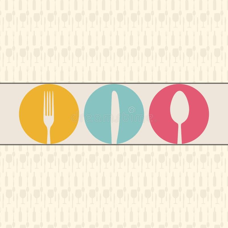 菜单设计 向量例证