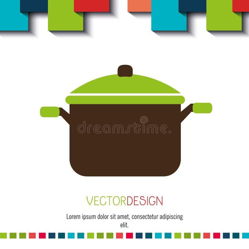 菜单象设计 库存例证
