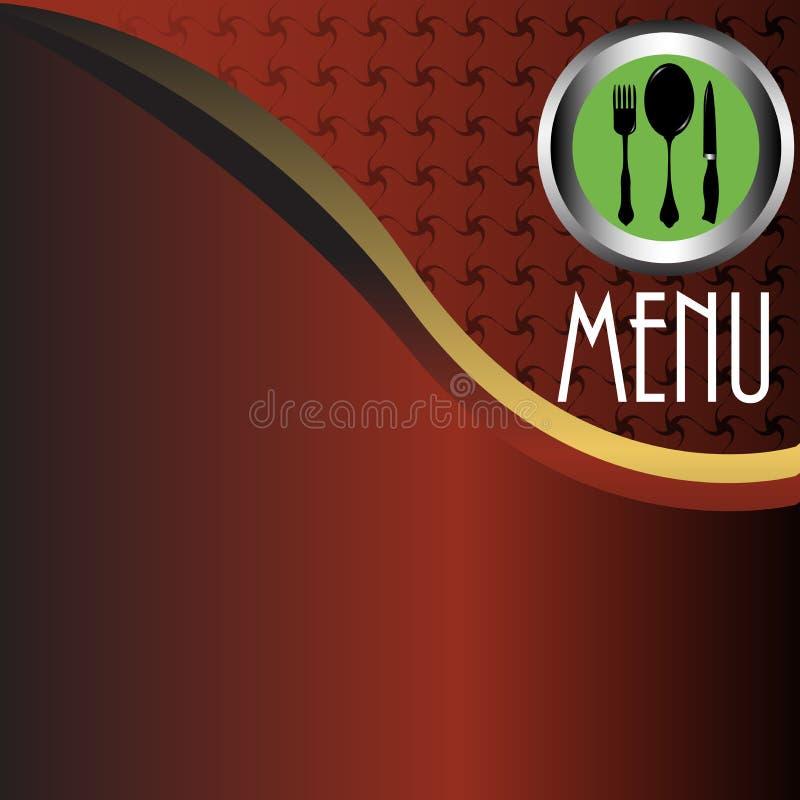 菜单餐馆 向量例证