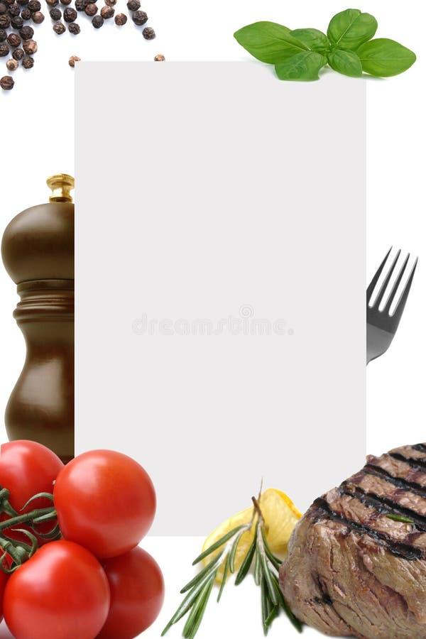 菜单 免版税库存照片
