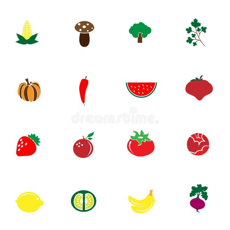 菜和果子象 库存照片