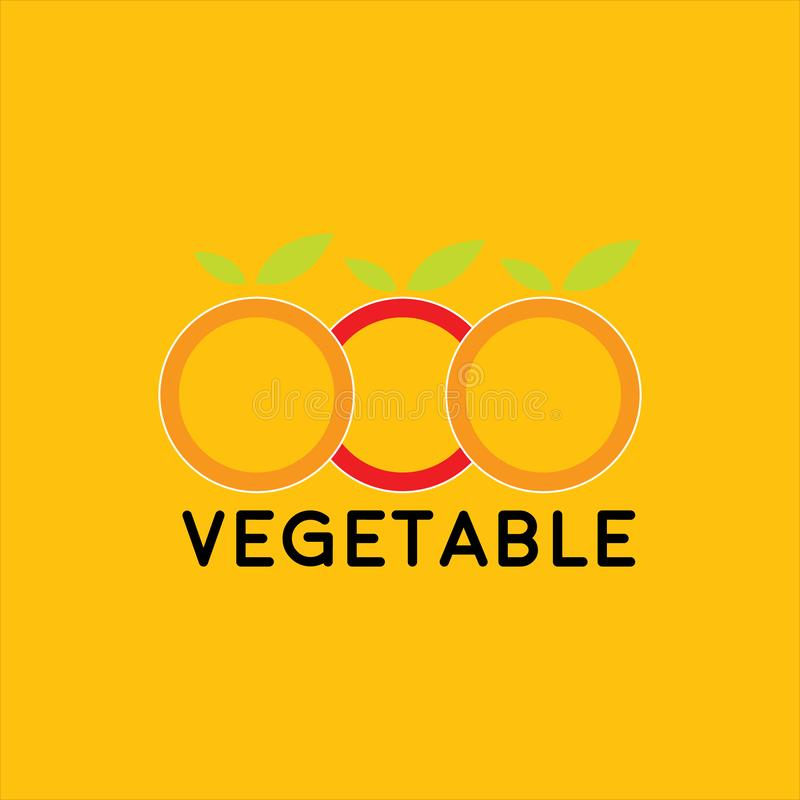 菜商标设计 库存例证
