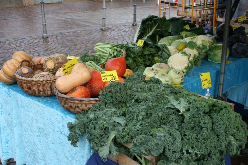 菜市场市场街市在迪堡,德国 免版税库存图片