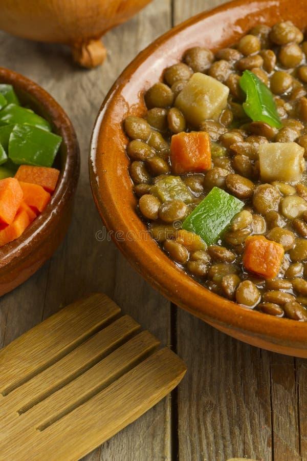 菜扁豆汤 库存照片