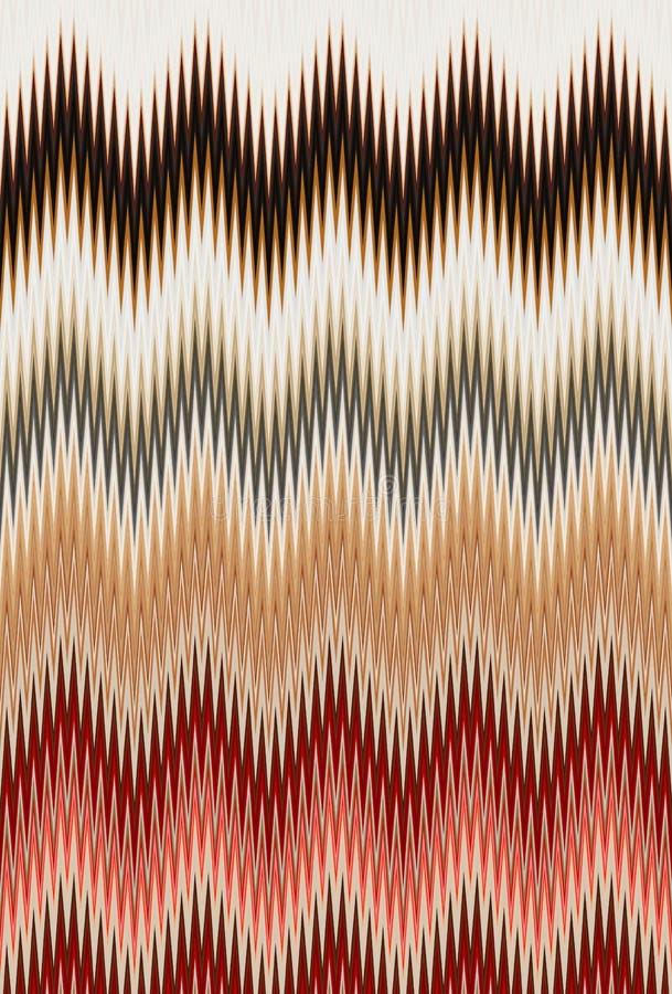 菜概念,彩虹颜色 雪佛之字形波动图式抽象派背景,趋向 向量例证