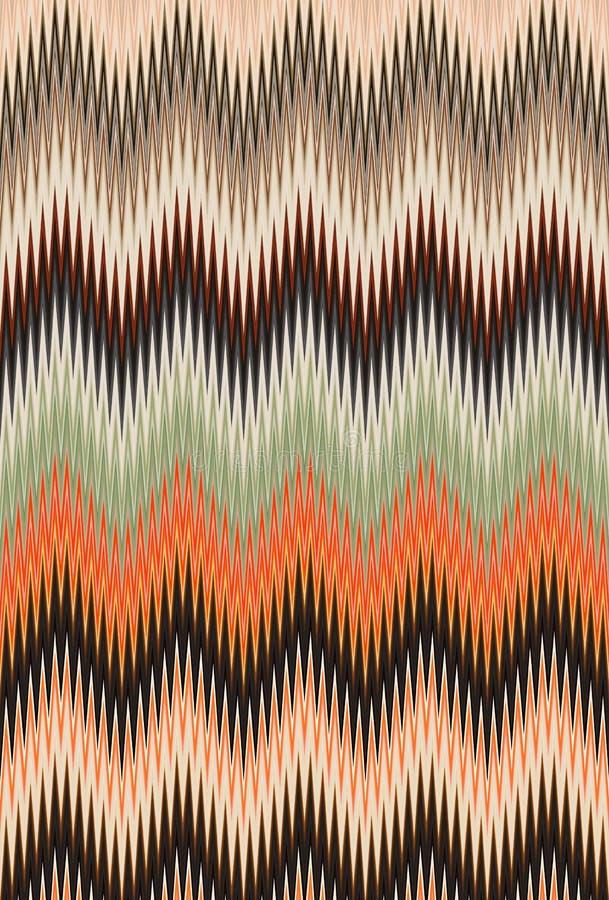 菜概念,彩虹颜色 雪佛之字形波动图式抽象派背景,趋向 库存例证