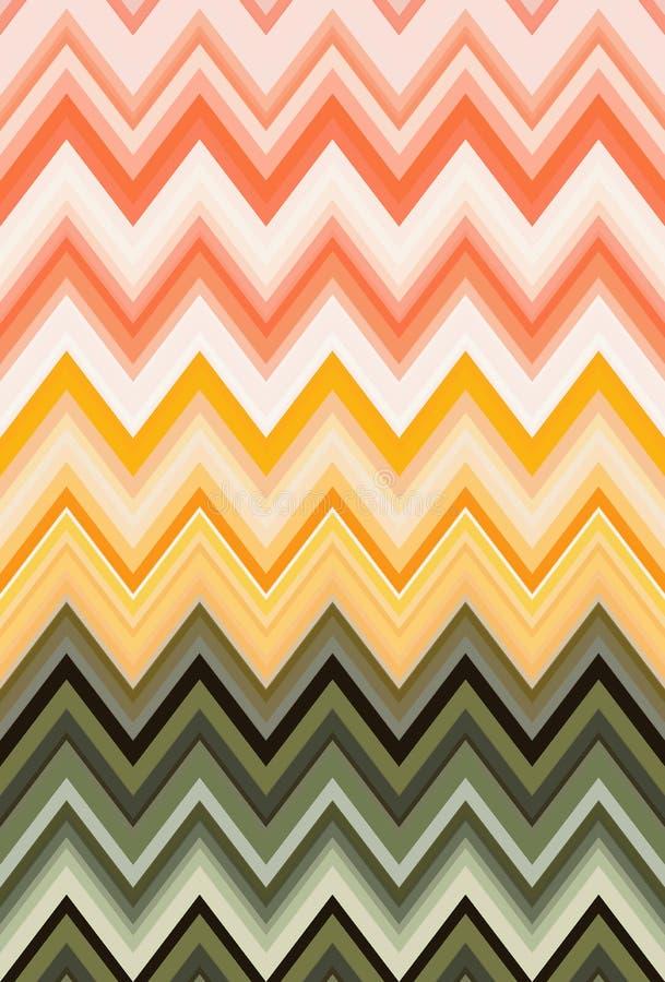 菜概念,彩虹颜色 雪佛Z形图案抽象派背景,趋向 库存例证