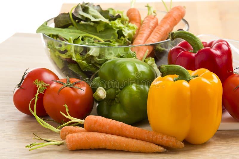 菜的混合在沙拉的 免版税库存图片