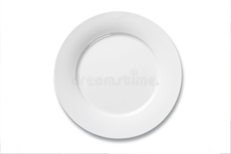菜盘白色 免版税库存照片