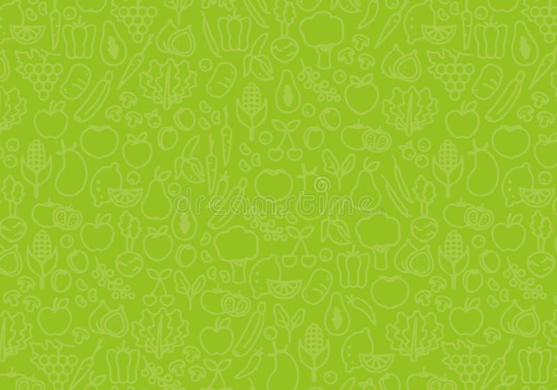 菜背景  绿色食物模式 库存照片