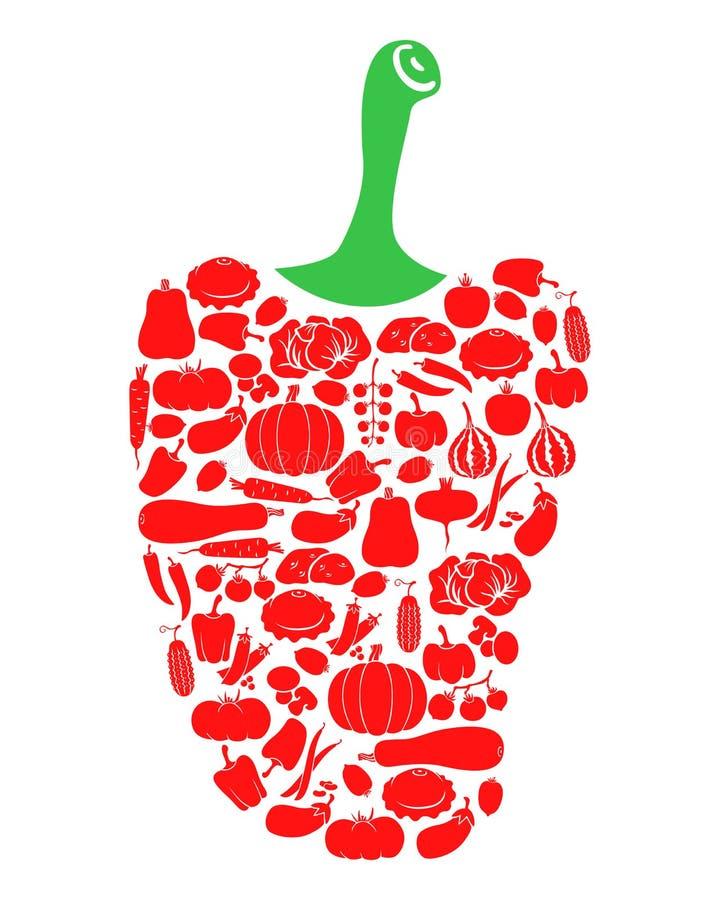 菜胡椒  向量例证