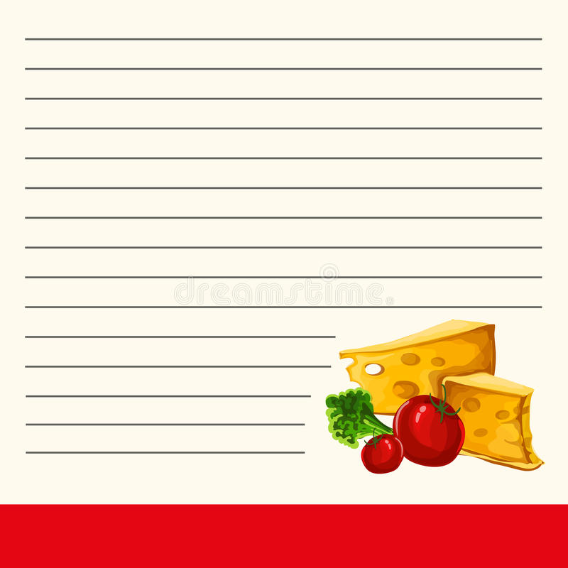 菜谱的模板 菜谱的凉快的页 菜谱的内在页的美好的设计 皇族释放例证