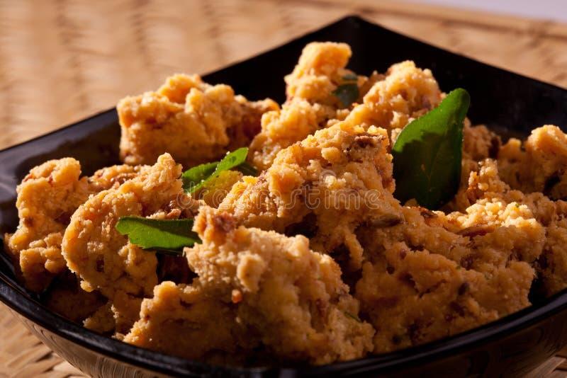 菜Pakoda -印地安油炸馅饼。 免版税库存照片