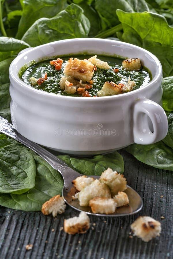 菠菜potage 库存照片