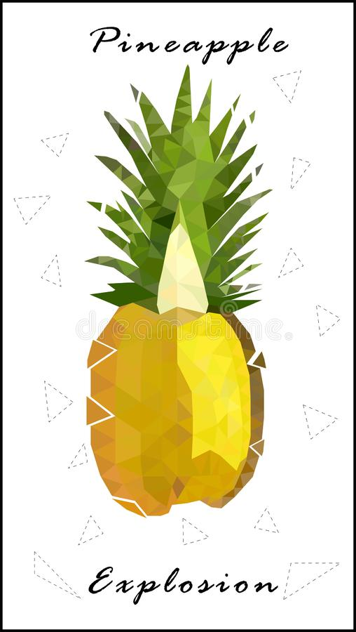菠萝低多菠萝爆炸 向量例证