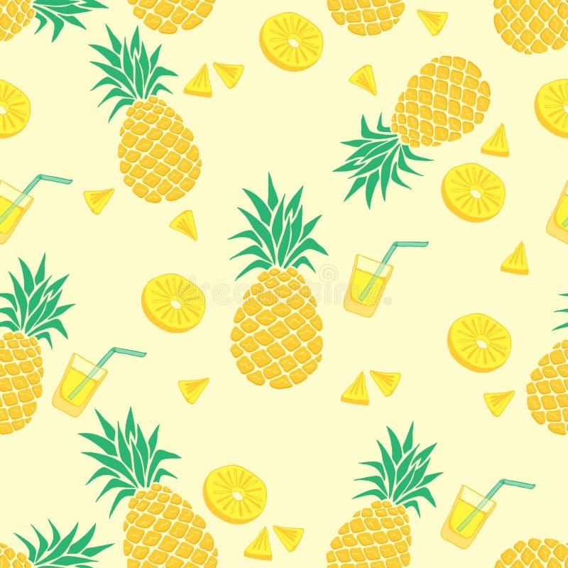 菠萝夏天背景设计 免版税库存照片