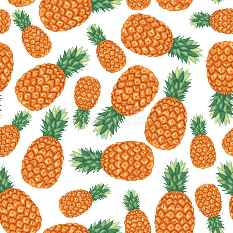 菠萝无缝果子的样式 库存例证