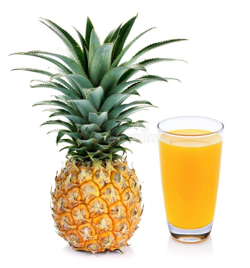 菠萝汁和菠萝 库存照片