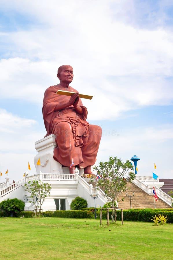 菩萨修士雕塑somdej泰国toh 库存图片