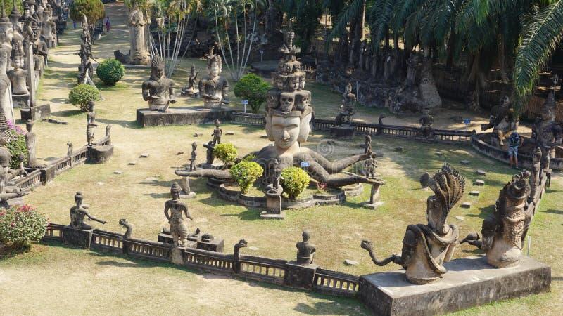 菩萨公园在万象 老挝 库存图片