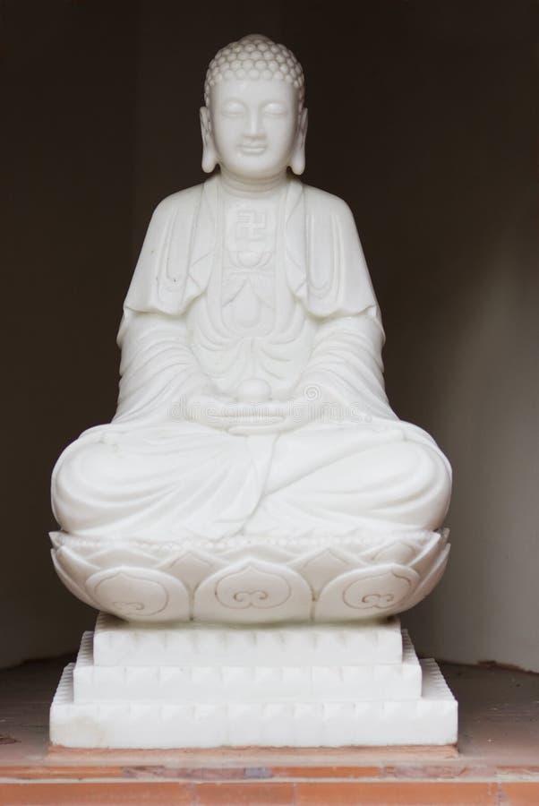 菩萨图象白色 免版税库存照片