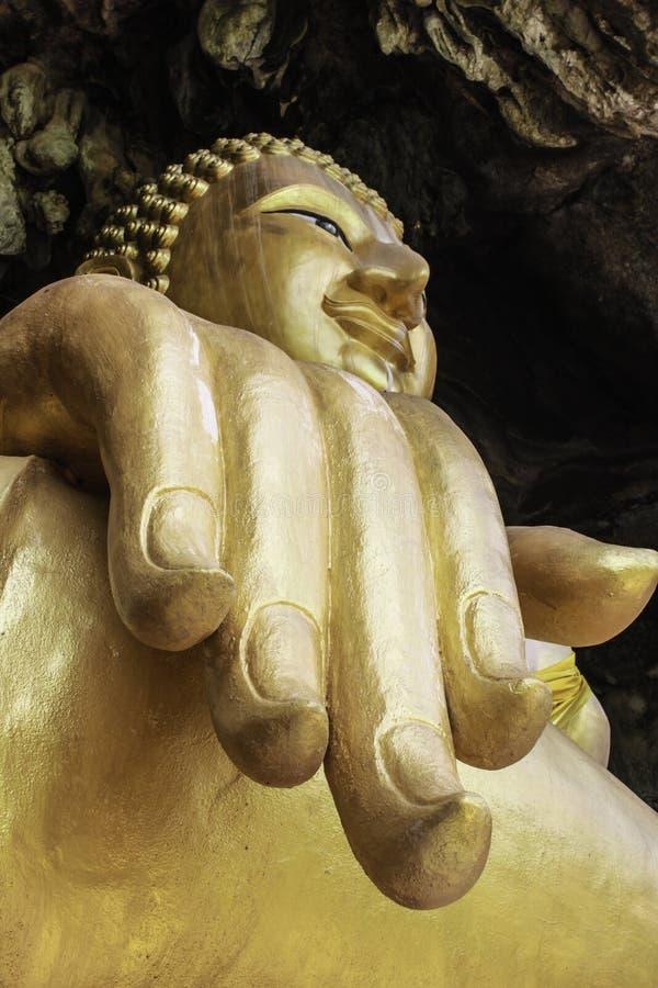 菩萨图象的手 免版税图库摄影