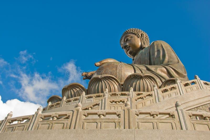 菩萨大海岛lantau雕象 免版税库存照片