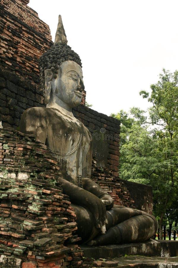 菩萨大sukothai寺庙泰国 免版税图库摄影