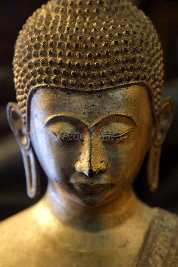 菩萨宗教寺庙泰国的面孔 库存照片