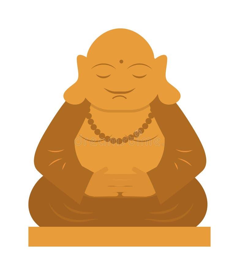 菩萨宗教雕象泰国凝思文化传染媒介 向量例证