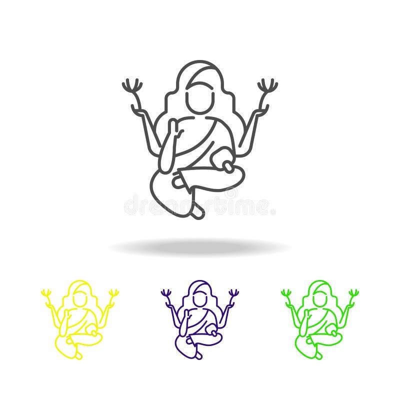 菩萨屠妖节上色了在白色背景的象 图表和网络设计的屠妖节印度节日印度假日元素 库存例证